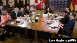 Group of Seven foreign ministers meet in Toronto on April 22.
