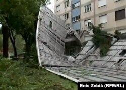 Vjetar koji na širem zagrebačkom području puše od nedjelje navečer imao je povremeno udare i do 100 kilometara na sat