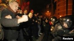 Вчерашните протести во Киев на опозициските симпатизери