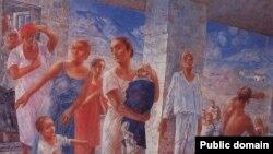 Знаменитая картина Кузьмы Петрова-Водкина о крымском землетрясении 1927 года, очевидцем которого был автор