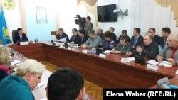 Совещание по экологии в Темиртау с участием акима Карагандинской области и вице-министра энергетики. 24 января 2018 года.