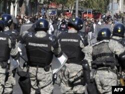 Anti gej protest u centru Beograda, 10. oktobar 2010.