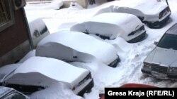 Borë në Prishtinë