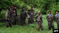 Irak - Luftëtarët e Partisë Punëtore të Kurdistanit (PKK) përshëndesin shokët e tyre të luftës (Ilustrim)