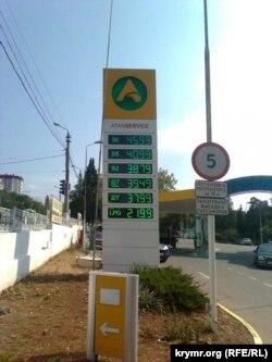 Цены на автозаправке в Севастополе, сентябрь 2016 года
