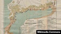 Владивосток, план города, 1902 год (историческая карта)