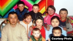 Kazakhstan -- Family of Kazakh repatriates from Mongolia.
