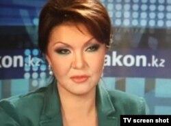 Zakon.kz сайтынан алынған Дариға Назарбаеваның фотоскриншоты. Бұл кезде ол парламент сайлауына қатысып жатқан. Алматы, 12 қаңтар 2012 жыл.