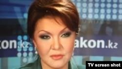 """Фотоскриншот с сайта """"Закон.кз"""" во время онлайн- конференции политика Дариги Назарбаевой. Алматы, 12 января 2012 года."""