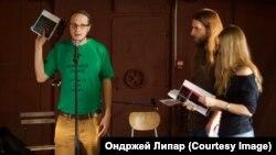 Редактор журнала Plav Алексей Севрук на презентации украинского номера