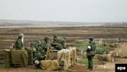 Vežbe proruskih separatista u blizini Luganjska