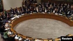 Совет безопасности ООН голосует по проекту резолюции по Ливии, Нью-Йорк, 17 марта 2011 г.