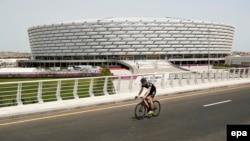 Pamje nga Stadiumi Olimpik në Baku