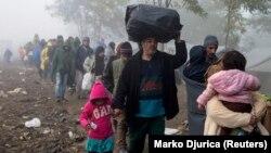 Беженцы в Сербии, 23 октября 2015 года. Иллюстративное фото.