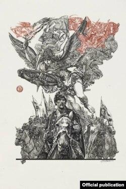 Сергій Якутович. «Архангел» (серія «Запорожці»), 2006 рік. (Фото Хмельницького обласного художнього музею)