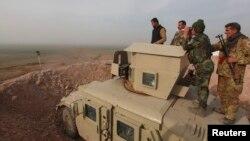 Мосул маңында тұрған пешмерга жасағы. Ирак, 26 қаңтар 2015 жыл. (Көрнекі сурет)