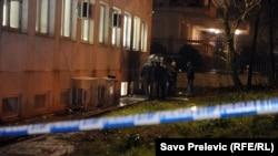 """""""Vijesti"""" басылмасынын имаратынын жардыруу болгон жери, 27-декабрь, 2013"""