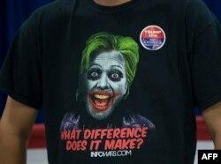 Сторонник Трампа на предвыборном митинге
