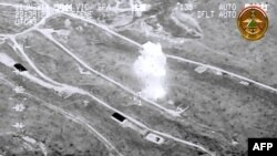 یکی از حملات هوایی نیروهای عراقی در شمال عراق