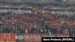 Crnogorski navijači tokom utakmice Crna Gora - Engleska, Podgorica