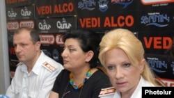 Armenia -- Nelli Durian, head of the Third Department of Criminal Investigation at a press conference, Hayeli press club, Yerevan, 16Jun2011