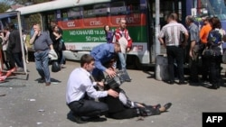 More than 30 people were injured in a series of explosions in the eastern Ukrainian city of Dnipropetrovsk in April.