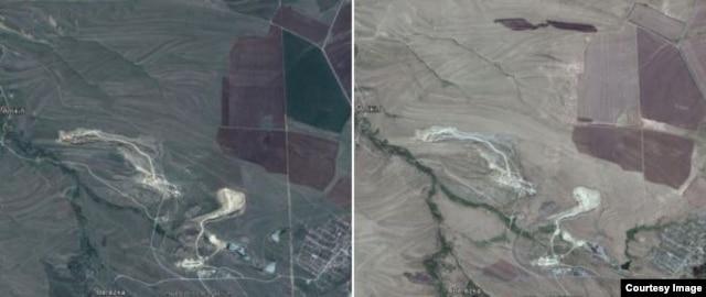 Апрель 2013 - август 2014. Военная техника появляется слева от темного поля