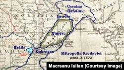 Юрисдикція Проїлавської митрополії у 1672 році. Це зображення є власною роботою Macreanu Iulian