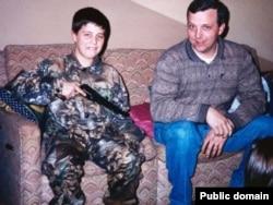 Дрю Голден с отцом