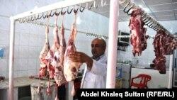 محل لبيع اللحم في دهوك(الارشيف)
