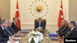 Turkey -- President Abdullah Gul (C) chairs a security meeting with the government and military officials at the presidential palace of Cankaya in Ankara, 21Jun2010