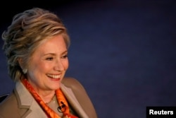 Former U.S. Secretary of State Hillary Clinton in May 2017