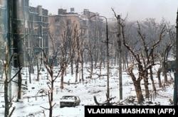 Грозный в феврале 1995 года, в разгар первой чеченской войны