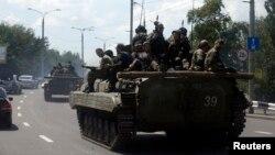 Ресейшіл сепаратистер. Донецк, 10 шілде 2014 жыл.