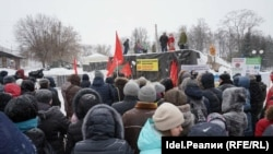 Холодный митинг против мусора в воздухе
