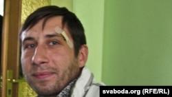 Гражданский активист Виталий Протасевич. Гомель, 23 октября 2011 года.