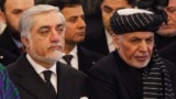 Afghan President Mohammad Ashraf Ghani (right) and Chief Executive Abdullah Abdullah have maintained a government together, barely.