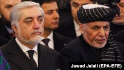 Afghan President Ashraf Ghani (right), and the country's chief executive officer, Abdullah Abdullah (left) have both claimed victory in the country's presidential election, something which could complicate matters on the eve of a potentially lasting peace deal.