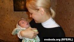 Вольга Карач з сынам