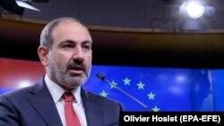 Премьер-министр Армении Никол Пашинян в Брюсселе, 5 марта 2019 г․
