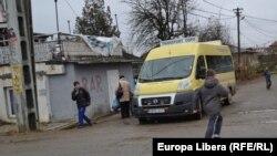 Autobuz şcolar la Sculeni, judeţul Iaşi