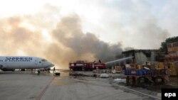 Pamje e aeroportit të Karaçit, 9 qershor 2014