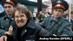Andrei Rudomakha being detained in Sochi in 2013