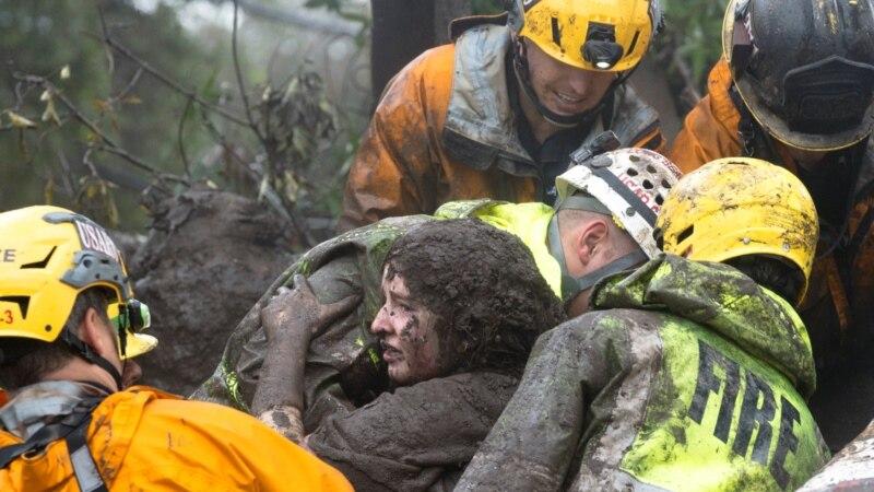 Над 48 исчезнати и 17 мртви по лизгањето на земјиште во Калифорнија
