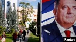 Milorad Dodik na predizbornom baneru, septembar, 2018, Banjaluka