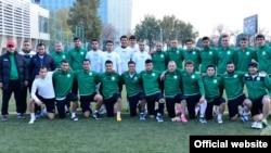 Сборная Туркменистана в Душанбе в ноябре 2016 года