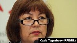 Кәсіпкерлер өкілі Жібек Әжібаева. Алматы, 16 қазан 2012 жыл.