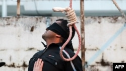 File photo of an execution in Iran.