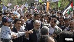 میرحسین موسوی در راهپیمایی روز قدس