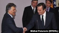 Turski predsjednik Abdulah Gul i predsjedavajući Predsjedništva BiH Haris Silajdžić u Sarajevu, 2. septembar 2010